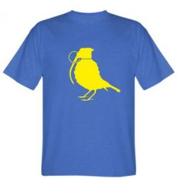 Мужская футболка Птичка с гранатой - FatLine
