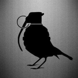 Наклейка Пташка з гранатою