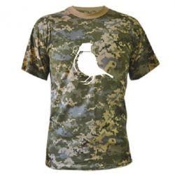 Камуфляжная футболка Птичка с гранатой - FatLine