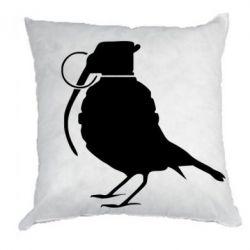 Подушка Птичка с гранатой