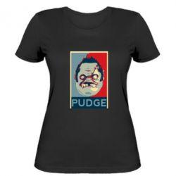 Женская футболка Pudge aka Obey - FatLine