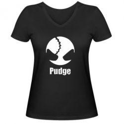 Женская футболка с V-образным вырезом Pudge - FatLine