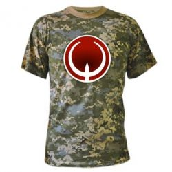 Камуфляжная футболка Quake Logo - FatLine