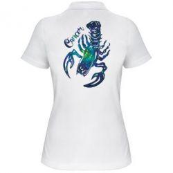Женская футболка поло Рак звезды