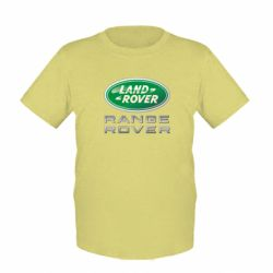 Детская футболка Range Rover Logo Metalic - FatLine