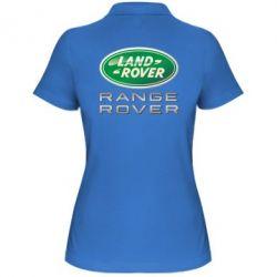 Женская футболка поло Range Rover Logo Metalic - FatLine