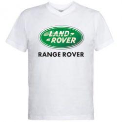 Мужская футболка  с V-образным вырезом Range Rover - FatLine