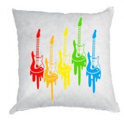 Подушка Разноцветные гитары - FatLine