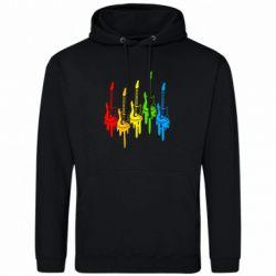 Толстовка Разноцветные гитары - FatLine