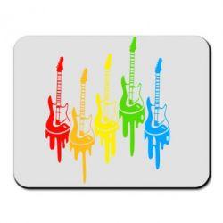 Коврик для мыши Разноцветные гитары - FatLine