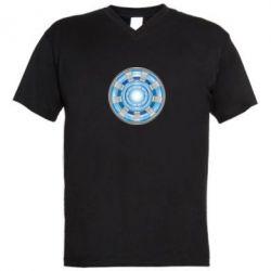 Мужская футболка  с V-образным вырезом Реактор Тони Старка - FatLine
