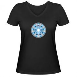 Женская футболка с V-образным вырезом Реактор Тони Старка - FatLine