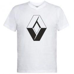 Мужская футболка  с V-образным вырезом Renault - FatLine
