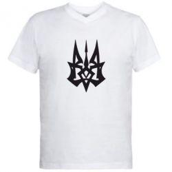 Мужская футболка  с V-образным вырезом Революційний Герб - FatLine