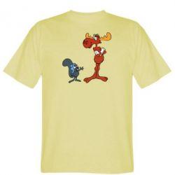 Мужская футболка Рокки и Бульвинкль - FatLine