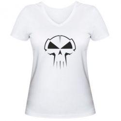 Женская футболка с V-образным вырезом rotterdam terror corps - FatLine