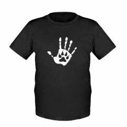 Детская футболка Рука волка