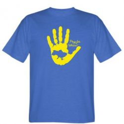 Мужская футболка Рука з картою України - FatLine