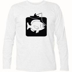 Футболка с длинным рукавом Рыба на крючке - FatLine
