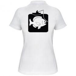 Женская футболка поло Рыба на крючке - FatLine