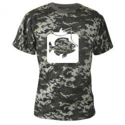 Камуфляжна футболка Риба на гачку - FatLine