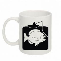 Кружка 320ml Рыба на крючке - FatLine