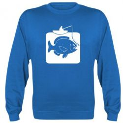 Реглан Рыба на крючке - FatLine