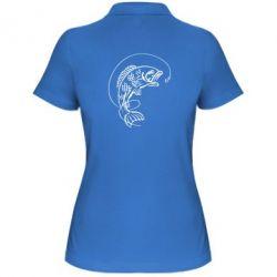 Женская футболка поло Рыба - FatLine