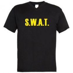 Мужская футболка  с V-образным вырезом S.W.A.T.