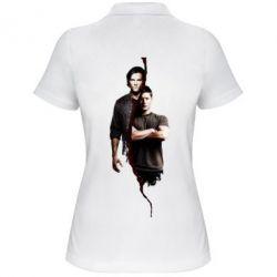 Женская футболка поло Sam and Dean