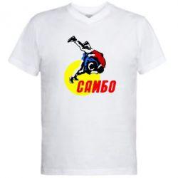Мужская футболка  с V-образным вырезом Sambo - FatLine