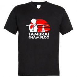 Мужская футболка  с V-образным вырезом Samurai Champloo - FatLine
