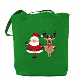 ����� Santa Claus and reindeer - FatLine