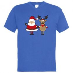 ������� ��������  � V-�������� ������� Santa Claus and reindeer - FatLine