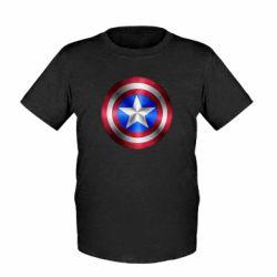 Детская футболка Щит Капитана Америка - FatLine