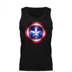 Мужская майка Щит Капитана Америка - FatLine