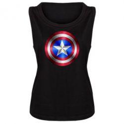 Женская майка Щит Капитана Америка - FatLine