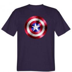 Мужская футболка Щит кэпа - FatLine