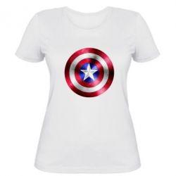 Женская футболка Щит кэпа - FatLine