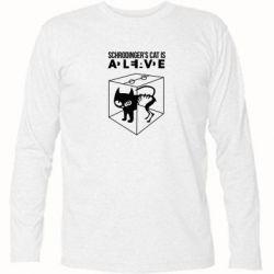 Футболка с длинным рукавом Schrodinger's cat is alive - FatLine