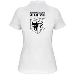 Женская футболка поло Schrodinger's cat is alive - FatLine