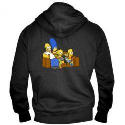 Мужская толстовка на молнии Семейство Симпсонов