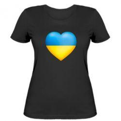 Женская футболка Серце патріота - FatLine