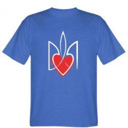 Мужская футболка Серце з гербом - FatLine