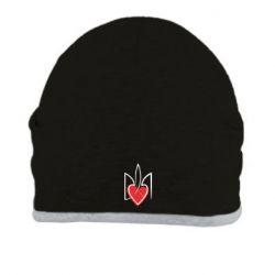 Шапка Серце з гербом - FatLine