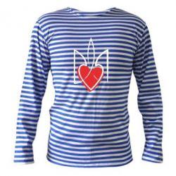 Тельняшка с длинным рукавом Серце з гербом - FatLine