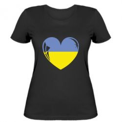 Женская футболка Сердце України - FatLine