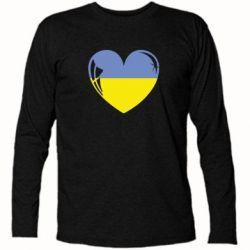 Футболка с длинным рукавом Сердце України - FatLine
