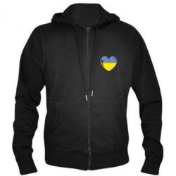 Мужская толстовка на молнии Сердце України - FatLine