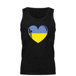 Мужская майка Сердце України - FatLine